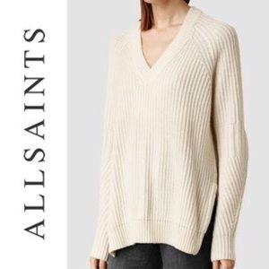 All Saints Riva Jumper Luxury Sweater High Low